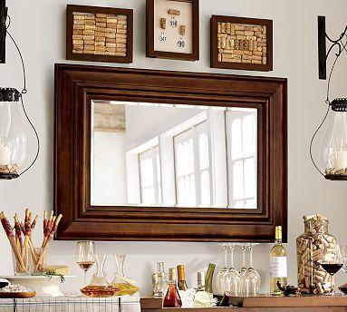 Solano Mirror #potterybarnWall Art, Potterybarn, Dining Room, Wine Corks, S'Mores Bar, Living Room, Wood Frames, Decor Mirrors, Pottery Barns