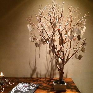 Hanging Escort Card Manzanita Branch Tree