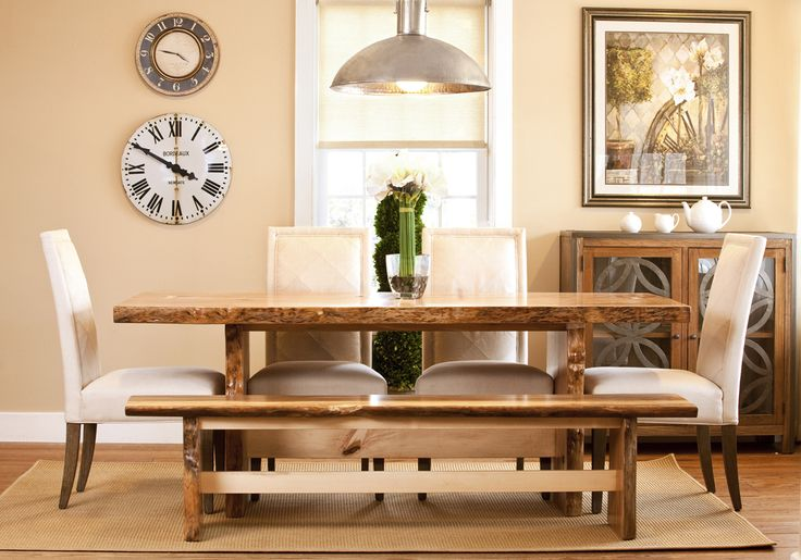 17 best ideas about natural wood dining table on pinterest