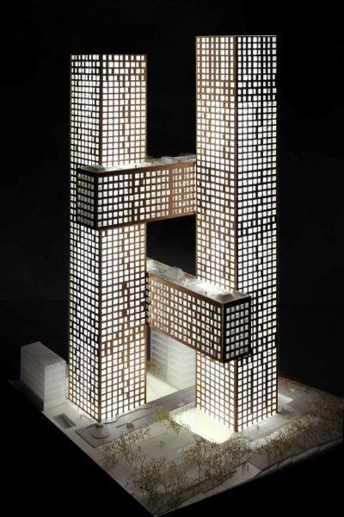 Cross Towers architectural model- wow this building is real I have never seen it before