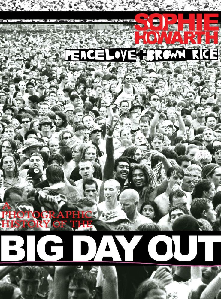 Ebook by official on the road photographer Sophie Howarth of the Big Day Out music festival, Australia.