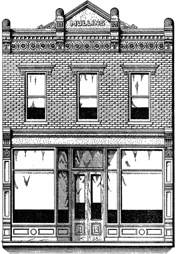 Vintage Brick Store Front Image - Nostalgic! - The Graphics Fairy