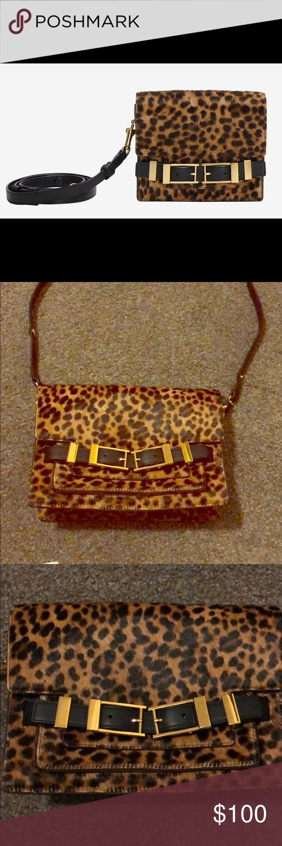 A.L.C. Davenport Leopard Crossbody Clutch This is a cross body Davenport leopard print clutch bag from A.L.C. Originally priced at $675.00! Never used A.L.C. Bags Crossbody Bags