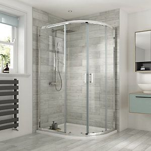 Wickes 1200 X 900mm Offset Quadrant Semi Frameless Sliding Shower Enclosure Chrome In 2020 Sliding Shower Screens Quadrant Shower Enclosures Quadrant Shower