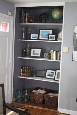 How to turn a closet into built-in bookshelves