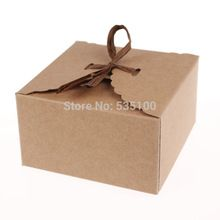 Retro Mini Kraft Paper Box,DIY Wedding Gift Favor Boxes,Party Candy Box,Mini Single Cake Box Packaging(Set Of 12)(China (Mainland))