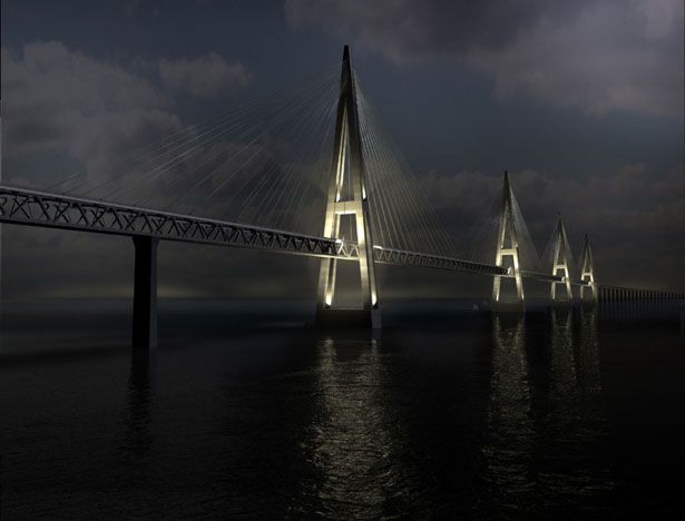 Unique Fehmarn Belt Bridge (Hamburg, Germany to Copenhagen, Denmark)
