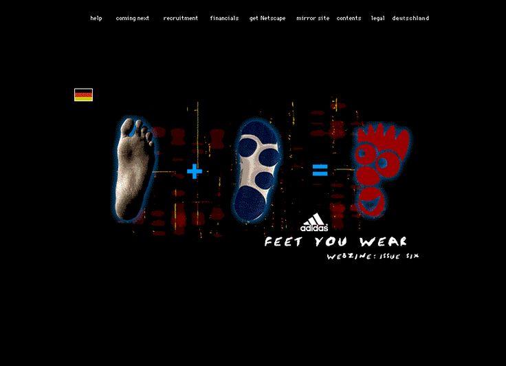 Adidas website in 1996