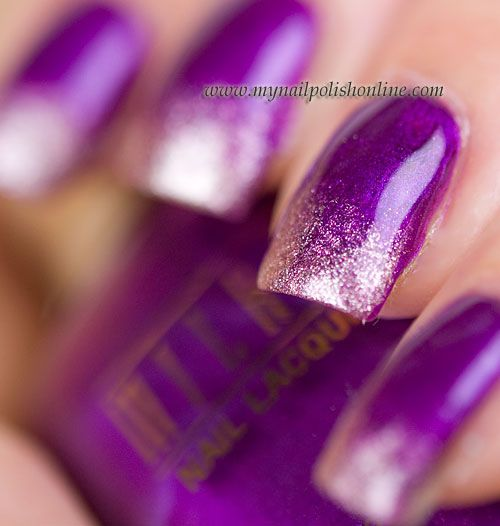Purple and champagne gradient!: Hair Nails Makeup Clothing, Beautiful Nails, Nail Polish Colors, Manicure, Gradient Nails, Eyes Nails Lips, Hair Nails Eyes Skin, Clothes Bags Tats Nails, Nails Polish Colors