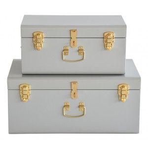 Evan koffert - 2-pack - ljusgrå :: Nyhet, Möbler & Inredning till Rea-pris 1000kr