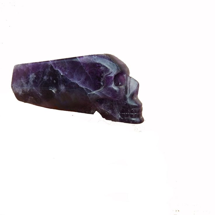 250g Natural Amethyst Crystal Smoking Pipe Carving Skull Crystal Smoking Pipe For Sale