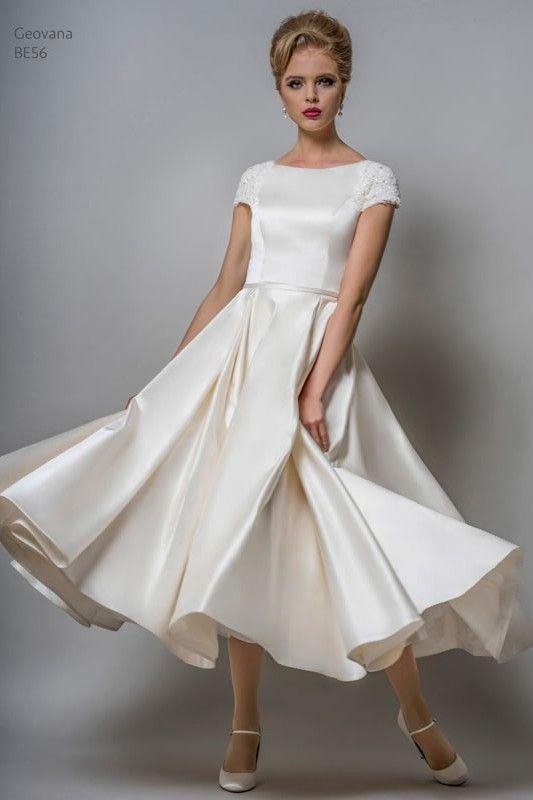 25 best tea length wedding dresses ideas on pinterest for Winter tea length wedding dresses