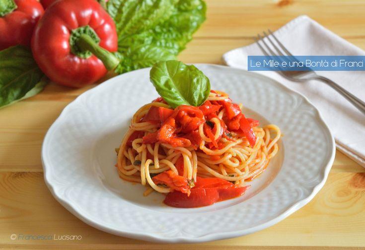 Spaghetti con peperoni reggini orizzontale