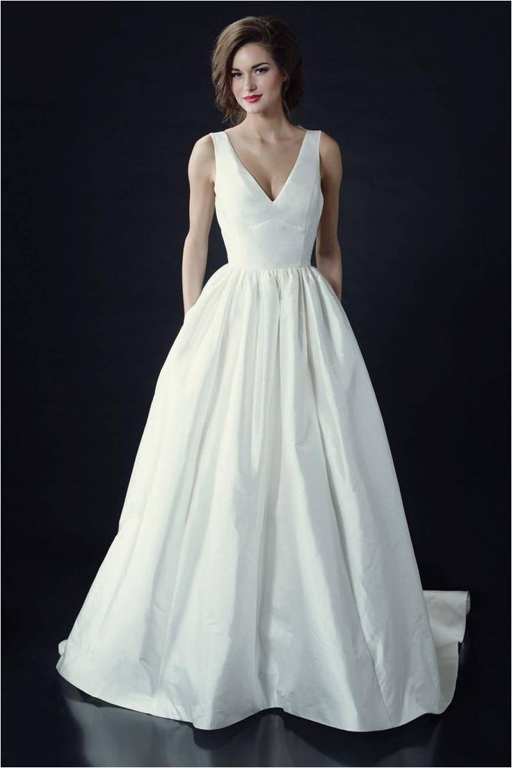 Vivienne Beau by Heidi Elnora Wedding Dresses 2014 V Neck Wedding Gown