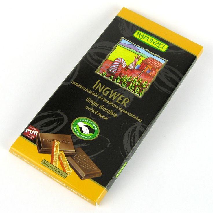 Ciocolată amăruie vegană cu ghimbir şi 55% cacao. Mmmmm! Un deliciu!