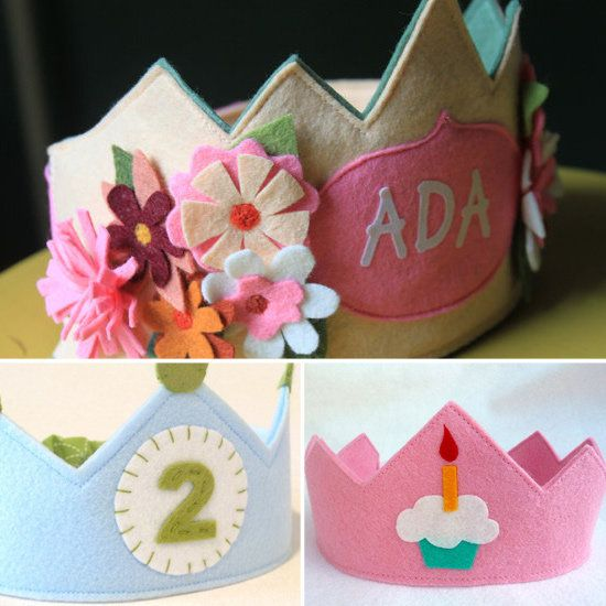unique birthday hats and crowns for your little ones