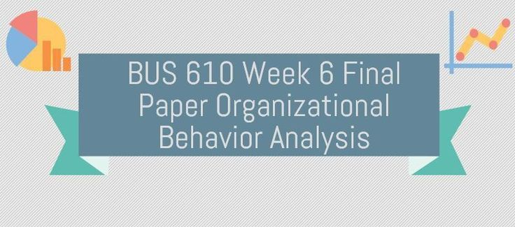 BUS 610 Week 6 Final Paper Organizational Behavior Analysis (Two Paper, MacDonald's and Coca Cola)In order to effectively analyze various behavioral components within an organization, the following suggestions are provided for guidance:Critique the observable actions of individuals within the organi