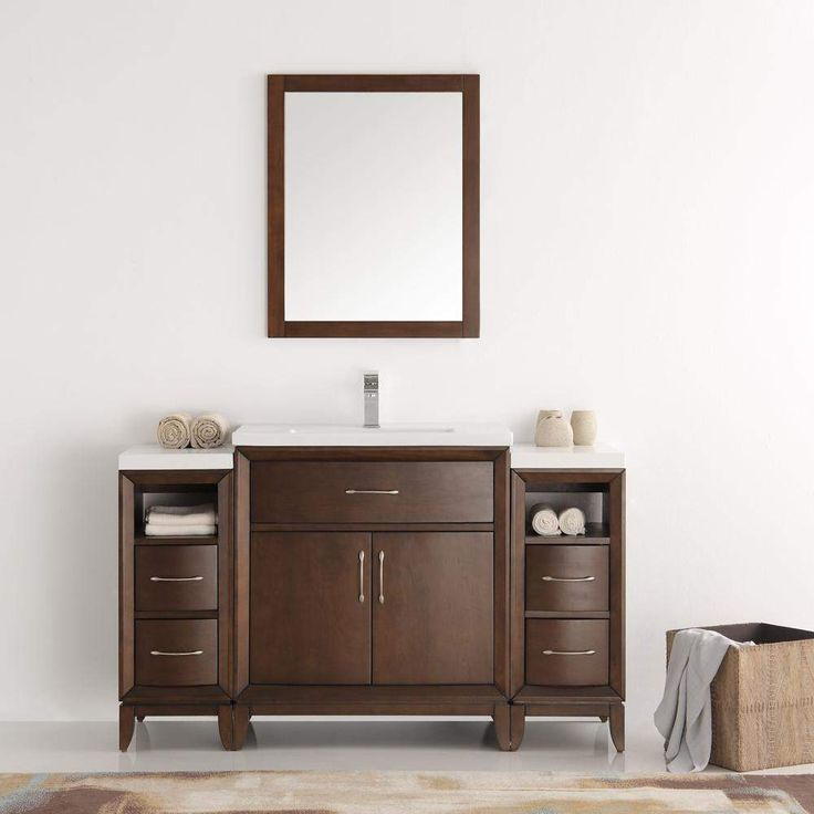 Fresca Cambridge 54 inch Traditional Bathroom Vanity with Mirror