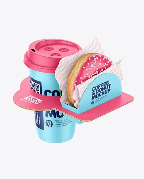 Download Donut Box Mockup in 2020 | Bakery packaging, Coffee cup ...