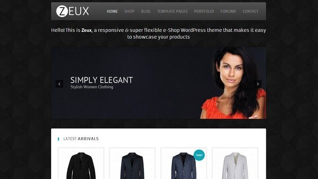 Zeux is an elegant free e-Commerce WordPress Theme from WPCrown.