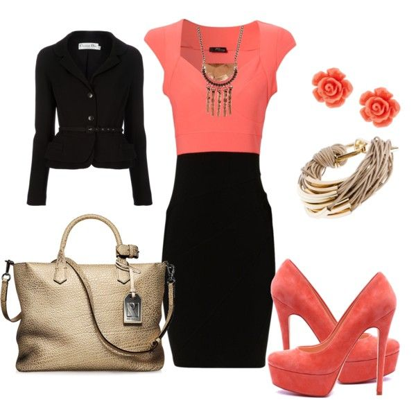 A fashion look from June 2012 featuring Jane Norman dresses, Christian Dior jackets and Reed Krakoff shoulder bags. Browse and shop related looks.