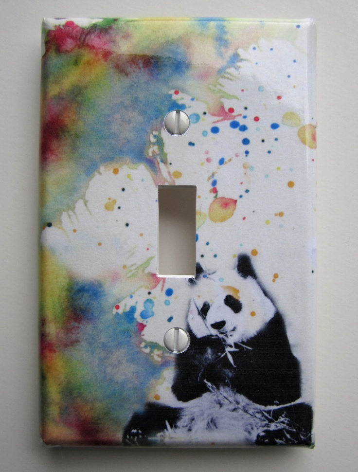 panda bear decorative light switch cover great owl kids room decor and baby nursery art decor