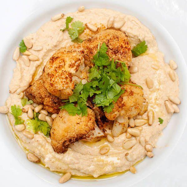 Hummus med rista blomkål