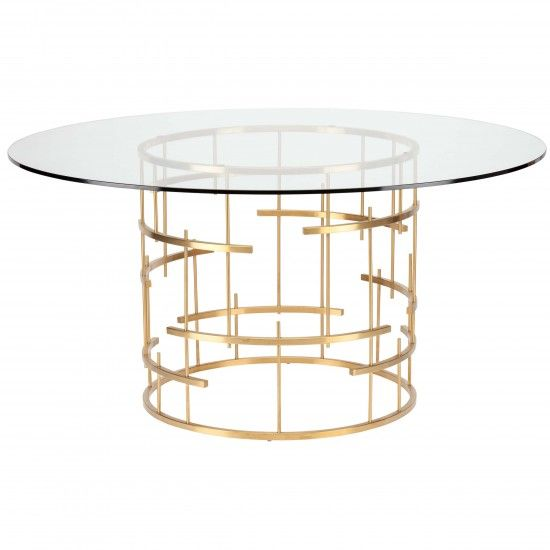 Rg Rect Dining Table Mauris Dining Table Gold Gold Dining