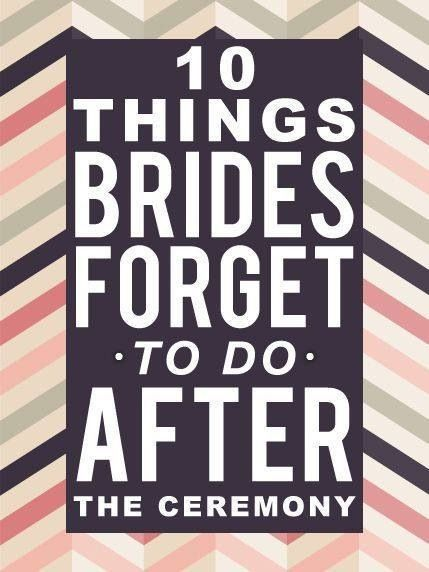 Good to keep in mind for the big day!