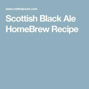 Scottish Black Ale HomeBrew Recipe