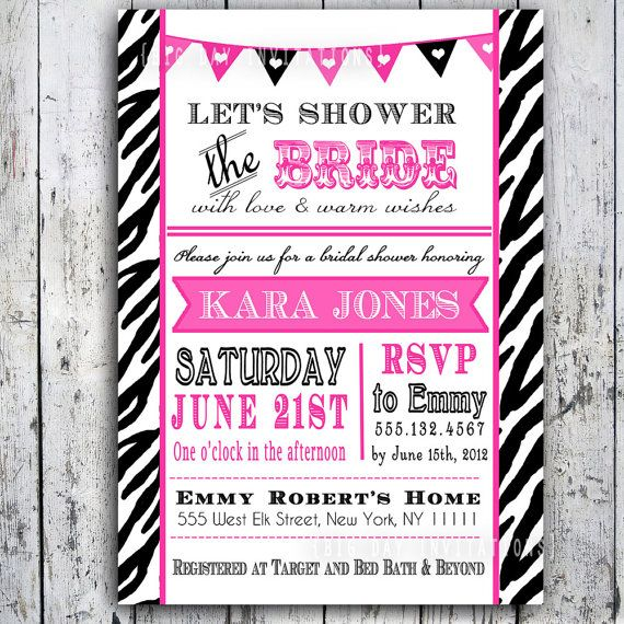 Hey, I found this really awesome Etsy listing at http://www.etsy.com/listing/96139300/zebra-bridal-shower-adult-birthday