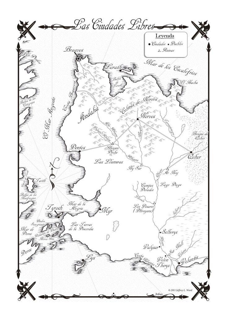 Danza de Dragones-Mapa Ciudades Libres - Hielo y Fuego Wiki