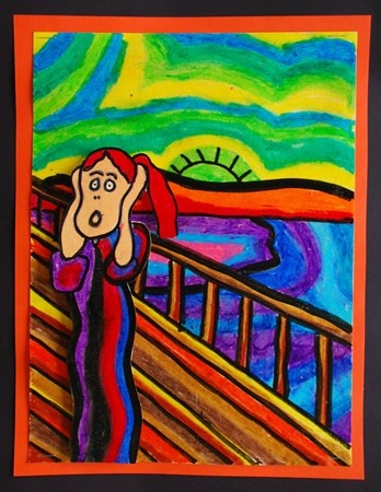 The Scream self-portrait