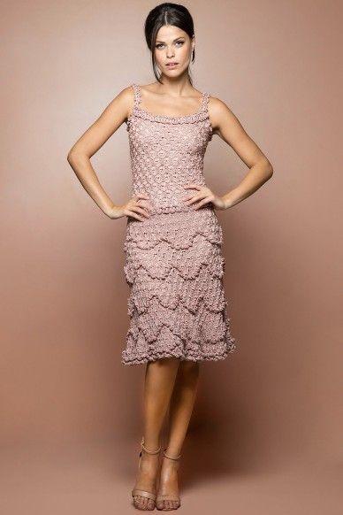 Pérola Bellini Crochet Dress - Vanessa Montoro EUA - vanessamontorolojausa