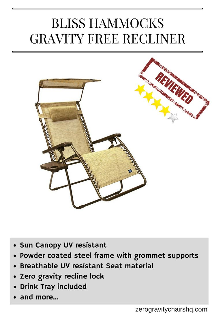review  bliss hammocks gravity free recliner   sun canopy   uv resistant powder coated steel frame with grommet supports   breathable uv resistant u2026 review  bliss hammocks gravity free recliner   sun canopy   uv      rh   pinterest