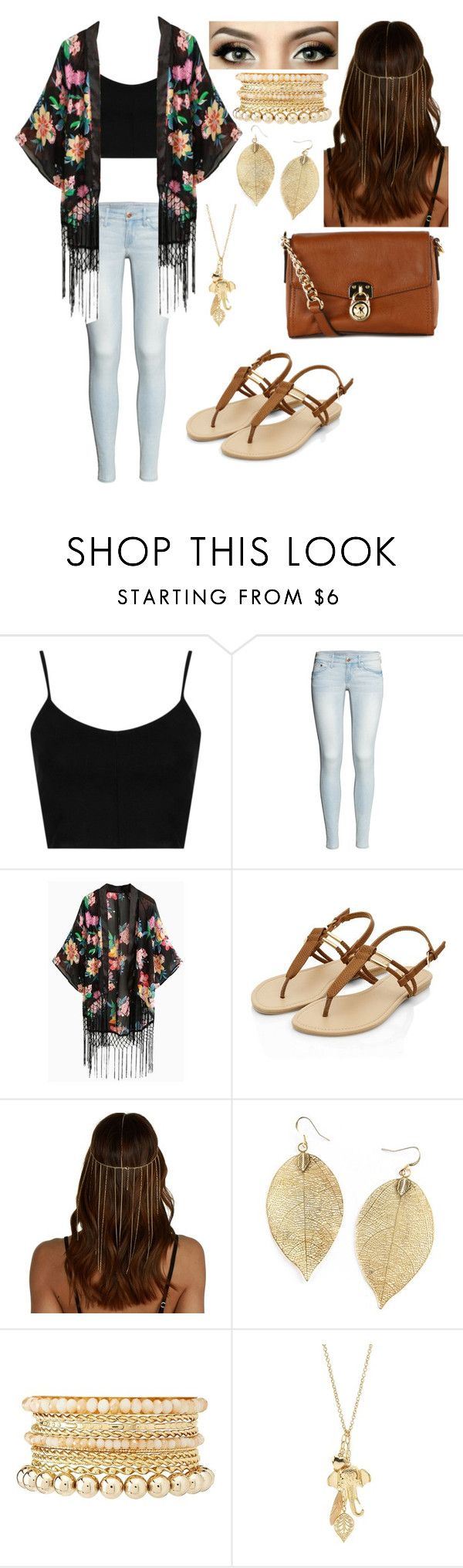 Beach Boardwalk Outfit by kimberlyorantes on Polyvore featuring Topshop, H&M, MICHAEL Michael Kors and Charlotte Russe