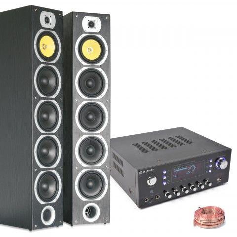 HiFi Stereo installatie met speakers en versterker van SkyTronic