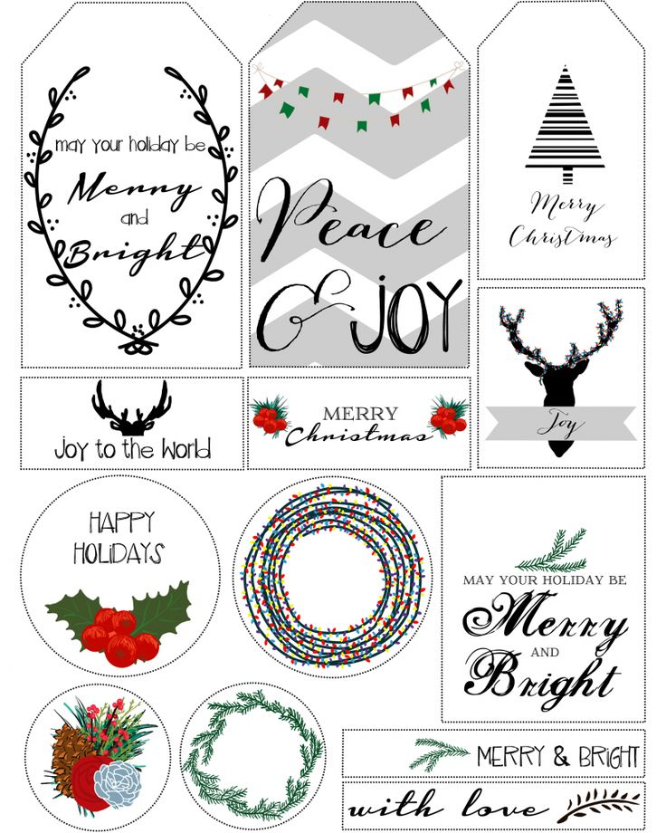 Best 25+ Christmas gift tags printable free ideas on Pinterest - christmas gift card templates free