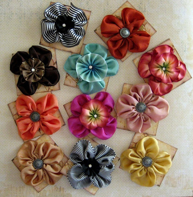 Beautiful Ribbon flowers