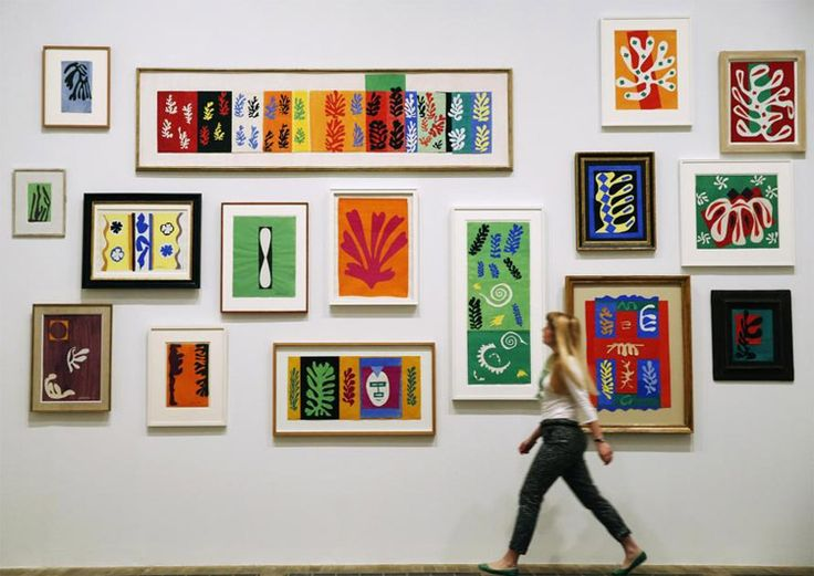 Henry Matisse - cutouts in Tate Modern My favourite of the exhibition June 2014