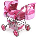 Bayer Chic 2000 Road Star Dolls Pram dots pink - Collection 2018