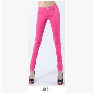 Pantalones Mujer Female 2016 Summer Hot Sale Women High Elastic Candy Trousers Casual Cotton Spandex Skinny Pencil Pants S688