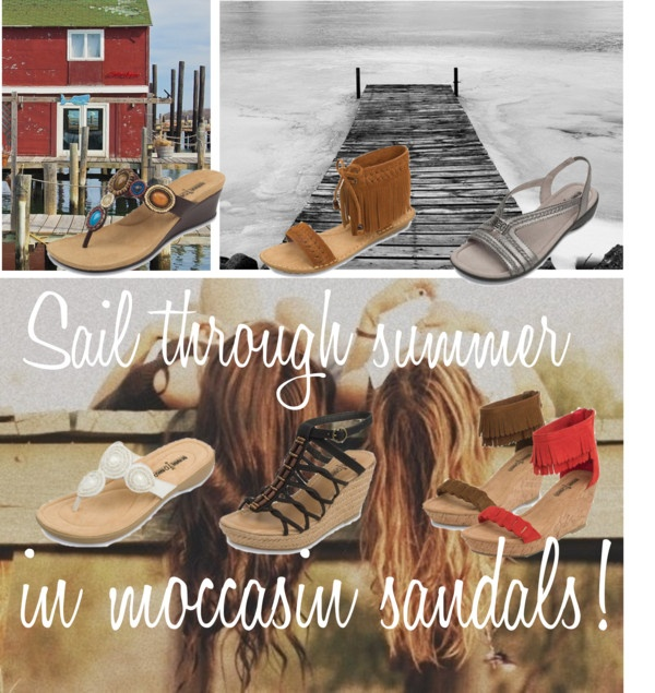"""""""Moccasin Sandals for summer!"""" by lovefrommn on Polyvore"""