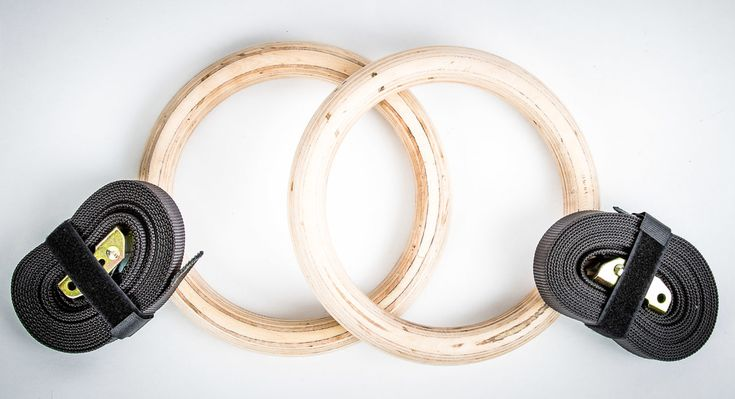 chandelier: wooden olympic gym rings