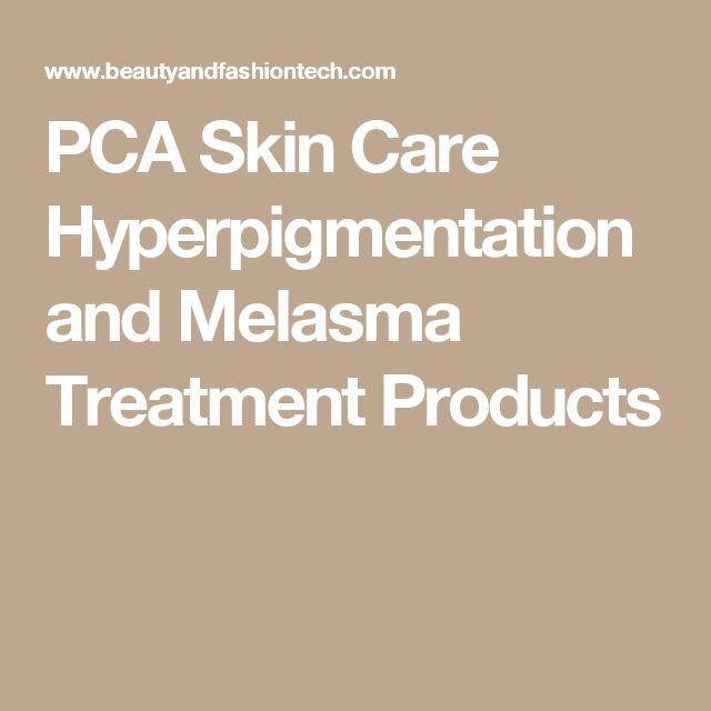 PCA Skin Care Hyperpigmentation and Melasma Treatment Products