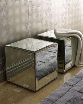 Mirrored Cube Table Look 4 Less Hollywood Regency Furniture Pinterest