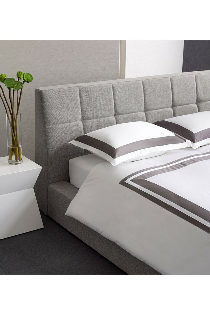 Sleek Charcoal/White Bedding