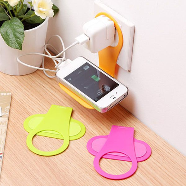 Foldable Cell Phone Charger Holder Mobile Stand Travel Gadget