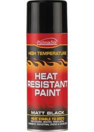 Economy Matt Black Heat Resistant Spray Paint - 400ml  http://www.woodburningstovesandflues.co.uk/stove-accessories-stove-paint-c-160_161/economy-matt-black-heat-resistant-spray-paint-400ml-p-789