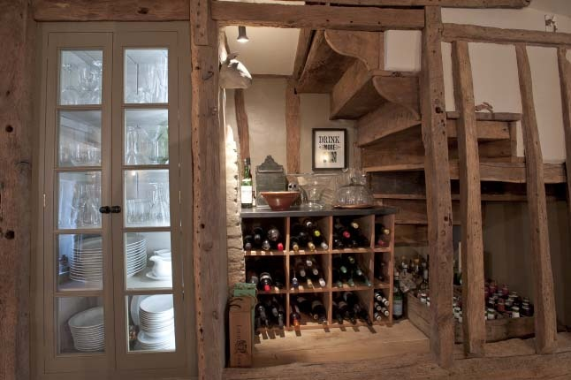 Pantry & Wine cellar in a 17th century farmhouse.: Wine Cellar, Storage Spaces, Farms Houses, Under Stairs Storage, Century Farmhouse, Open Storage, Welcome Home, Houses Inspiration, Darling Houses